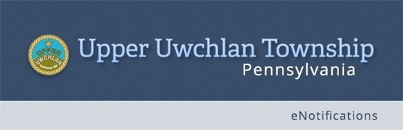 Upper Uwchlan Township eNotifications