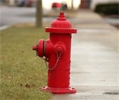 Photo of a red fire hydrant.