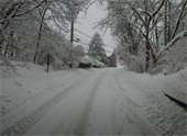 Styer Road in the snow