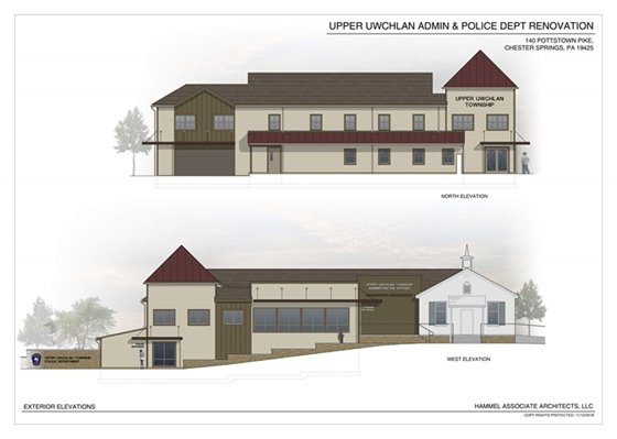 Exterior Elevations Sketch - UUT Admin and PD Renovation Design