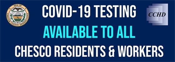 COVID-19 Testing Available to All Chesco Residents and Workers