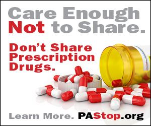 Care Enough Not to Share Prescription Drugs