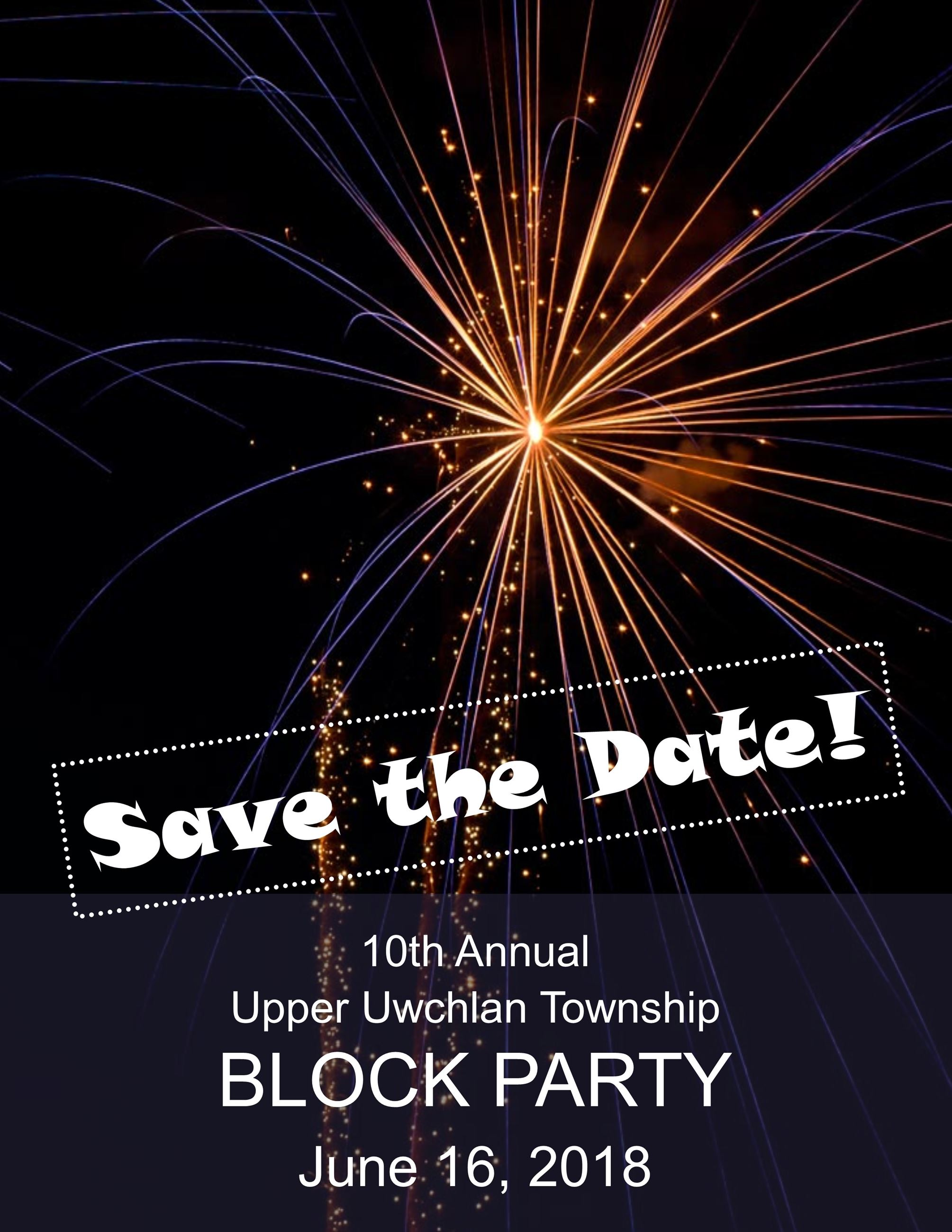 Block Party 2018 Save the Date: June 16, 2018