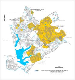 Map of township sewer systems